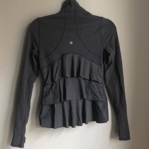 b3b0f67ba4 lululemon athletica Tops | Rare Lululemin Yogi Dance Ruffle Jacket ...